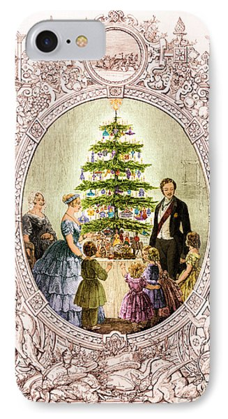 Christmas Tree At Windsor Castle 1848 IPhone Case by Photo Researchers