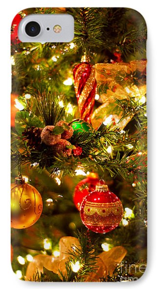 Christmas Tree Background Phone Case by Elena Elisseeva
