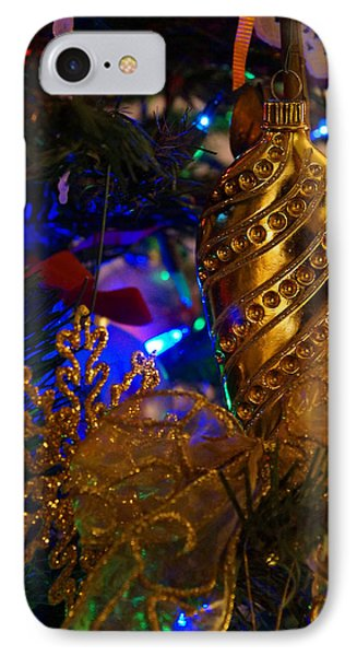 Christmas Tree Detail 2 Phone Case by Mick Anderson