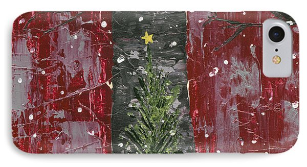 Christmas Tree In Barn IPhone Case by Kirsten Reed