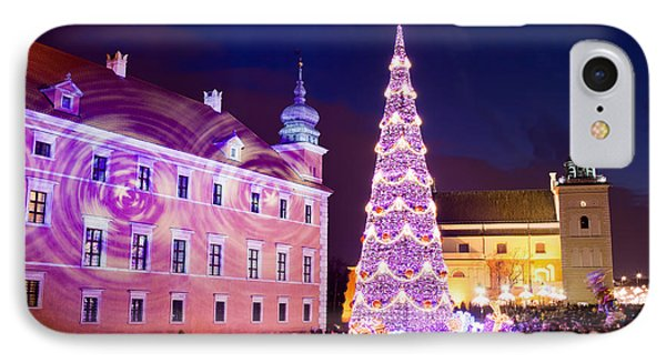 Christmas Tree In Warsaw Old Town Phone Case by Artur Bogacki