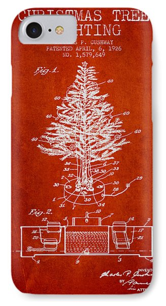Christmas Tree Lighting Patent From 1926 - Red IPhone Case