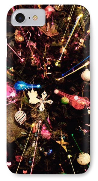 IPhone Case featuring the photograph Christmas Tree Lights by Vizual Studio