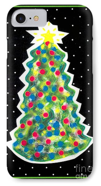Christmas Tree Polkadots Phone Case by Genevieve Esson