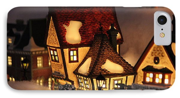 Christmas Village IPhone Case by Jewels Blake Hamrick