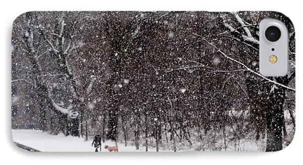 IPhone Case featuring the photograph Christmas Walk by Jacqueline M Lewis