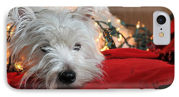 Christmas Westie Phone Case by Catherine Reusch Daley