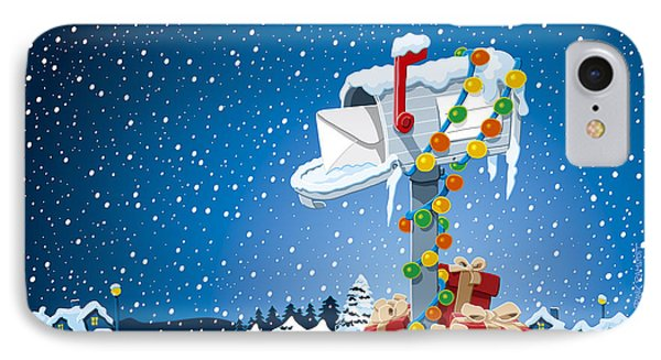 Christmas Winter Landscape Mailbox Gift Boxes IPhone Case