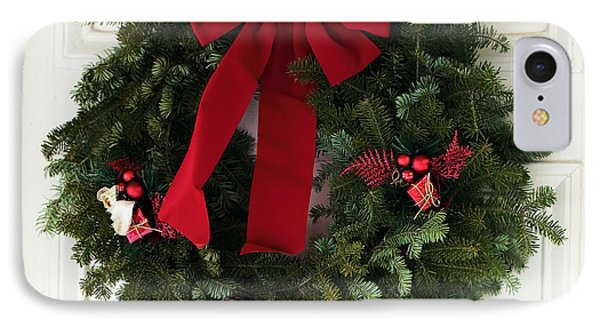 Christmas Wreath IPhone Case by John Rizzuto