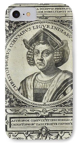 Christopher Columbus IPhone Case by British Library