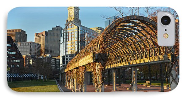 Christopher Columbus Park Trellis Boston Ma IPhone Case by Toby McGuire