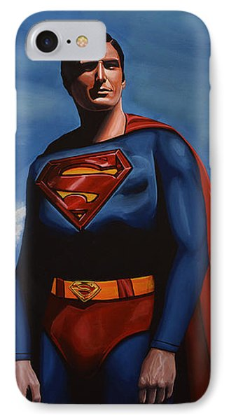 Christopher Reeve As Superman Phone Case by Paul Meijering