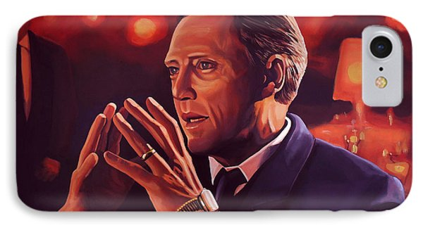 Christopher Walken Painting IPhone 7 Case by Paul Meijering