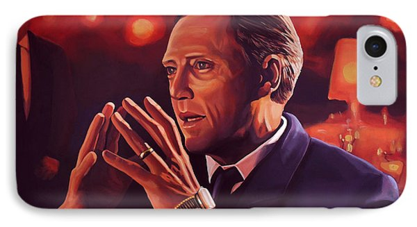 Christopher Walken Painting IPhone Case by Paul Meijering