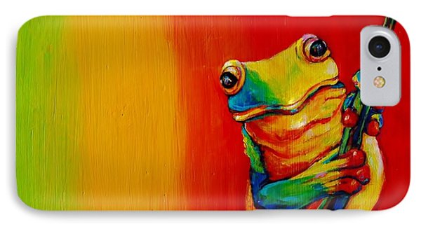 Chroma Frog IPhone Case by Jean Cormier