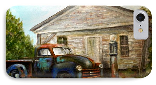 IPhone Case featuring the painting Chromatic Chevy by Sandra Nardone