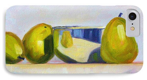 Chrome And Pears Phone Case by Nancy Merkle