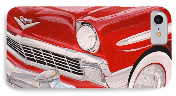 Chrome King 1956 Bel Air Phone Case by Vicki Maheu
