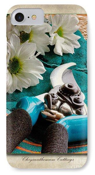 Chrysanthemum Cuttings Phone Case by John Edwards