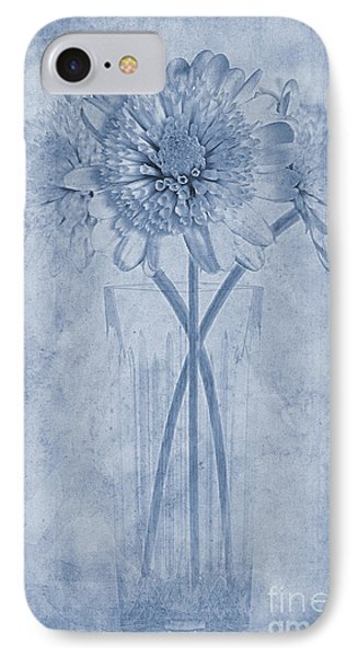 Chrysanthemum Cyanotype IPhone Case
