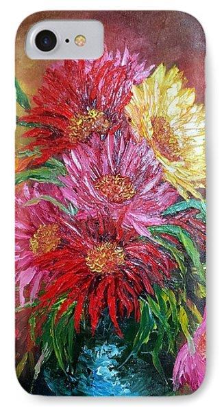 Chrysanthemum IPhone Case by Katia Aho