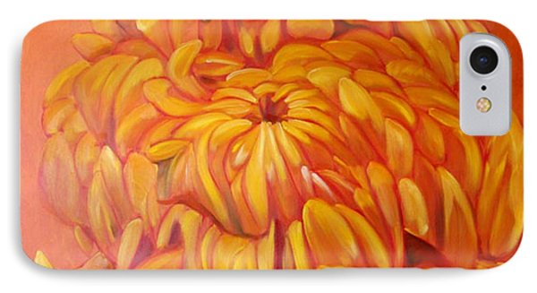 Chrysanthemum IPhone Case by Shelley Overton