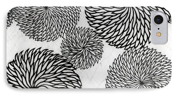 Chrysanthemums IPhone Case by Japanese School