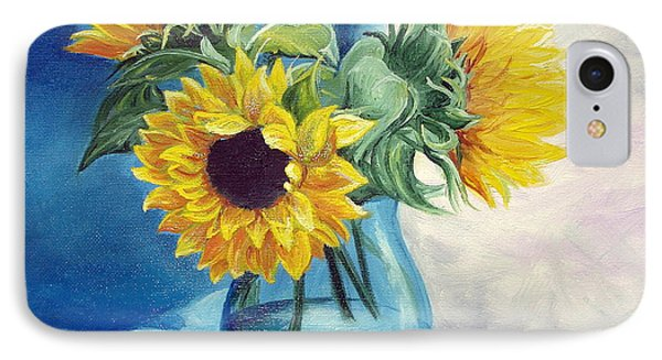 IPhone Case featuring the painting Chrysanthemums by Sorin Apostolescu