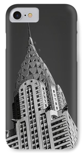 Chrysler Building iPhone 7 Case - Chrysler Building Bw by Susan Candelario