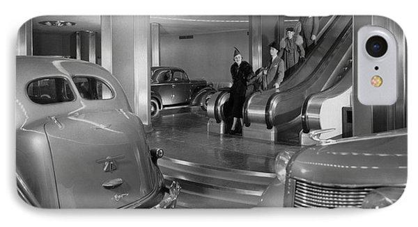 Chrysler Building Car Showroom IPhone Case