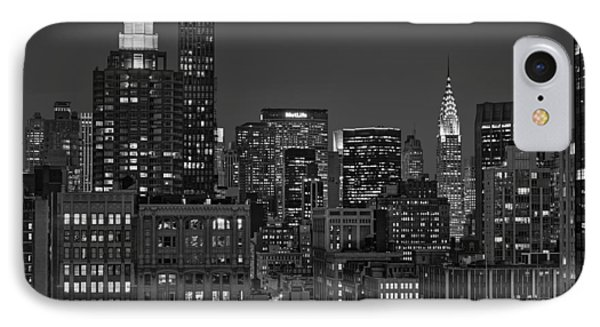 Chrysler Building Twilight Bw IPhone Case by Susan Candelario