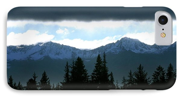 Chugach Mountains Phone Case by Crystal Magee