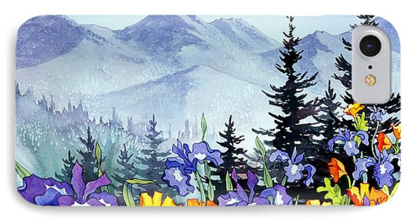 IPhone Case featuring the painting Chugach Summer by Teresa Ascone