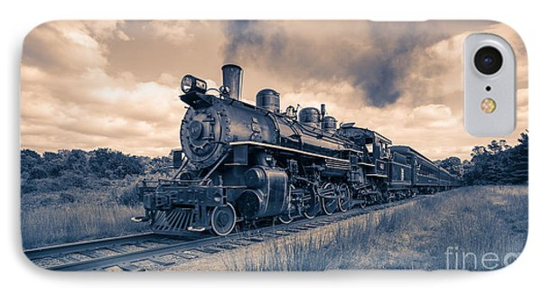 Full Steam Through The Meadow IPhone Case by Edward Fielding