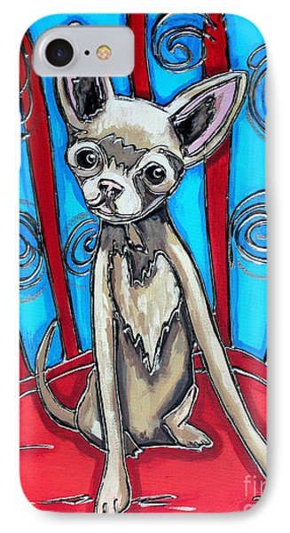 Chuhuahua Stare IPhone Case by Cynthia Snyder