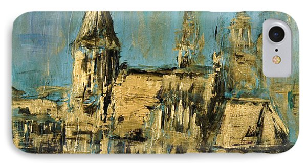 IPhone Case featuring the painting Church by Arturas Slapsys