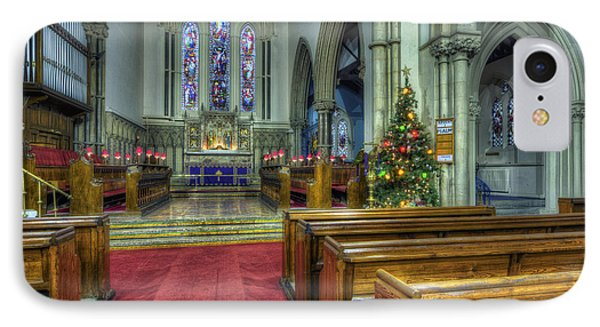 Church At Christmas V3 IPhone Case by Ian Mitchell