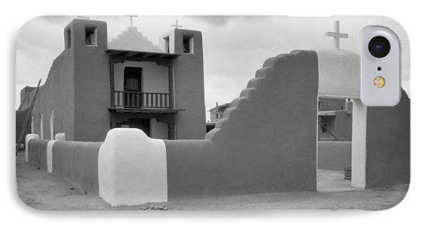 Church At Taos Pueblo Phone Case by David and Carol Kelly