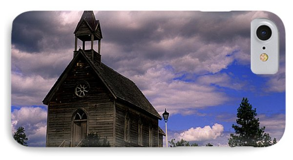 Church At The Okeefe Ranch IPhone Case