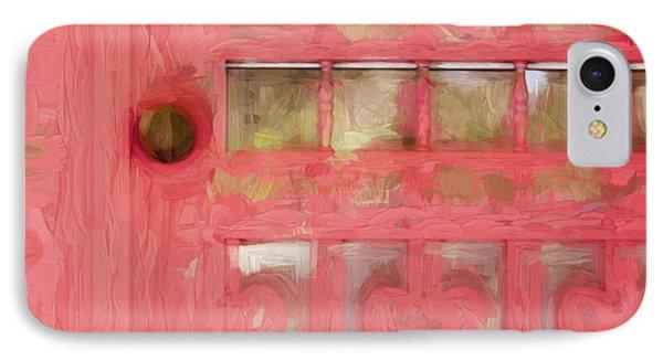 Church Camp House Detail Painterly Series 18 IPhone Case by Carol Leigh
