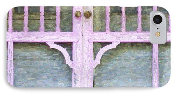 Church Camp House Detail Painterly Series 9 IPhone Case by Carol Leigh