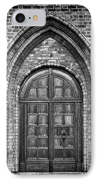 Church Door Monochromatic Phone Case by Antony McAulay