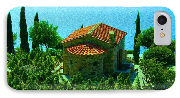 Enchanted Church Between Sea And Nature IPhone Case by Giuseppe Epifani
