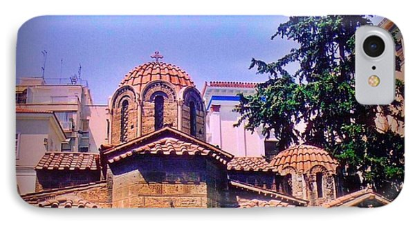 Church In Beautiful Athens Phone Case by John Malone