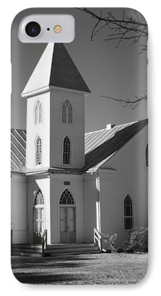 Church In Black And White Phone Case by Carolyn Ricks