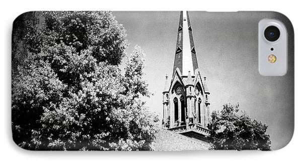 Church In Black And White IPhone Case by Matthias Hauser