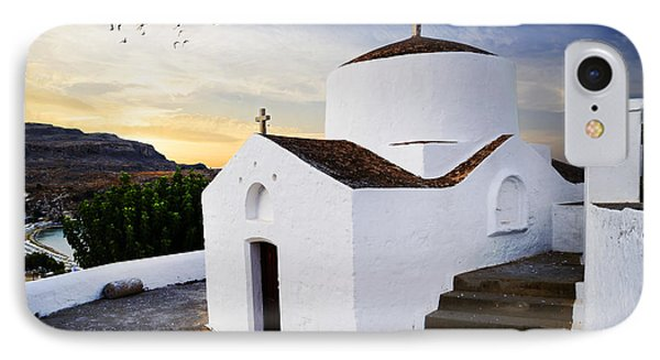 Church In Lindos Rhodes IPhone Case by Jelena Jovanovic