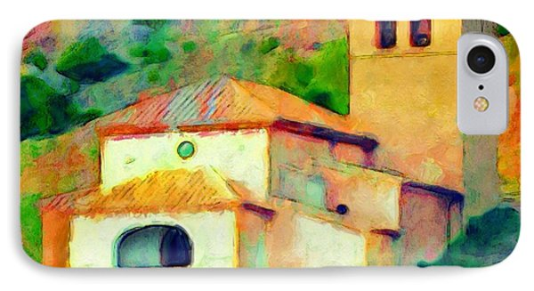 Church In Riglos Spain - Square IPhone Case