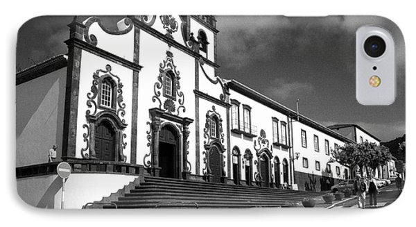 Church In Vila Franca Do Campo Phone Case by Gaspar Avila