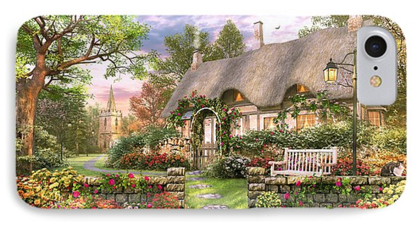Church Lane Cottage IPhone Case by Dominic Davison